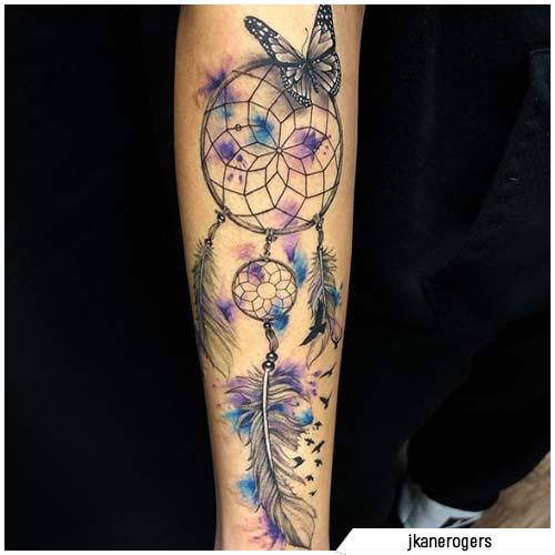 atraparsueños tatuajes mariposa
