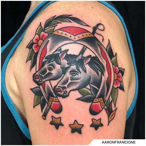 tattoo cavallo ferro di cavallo