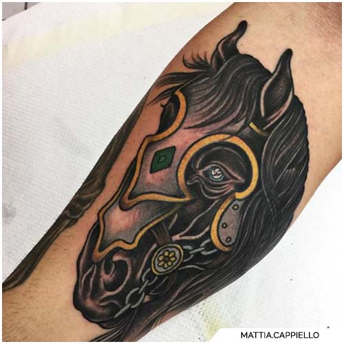 tattoo cavallo da guerra