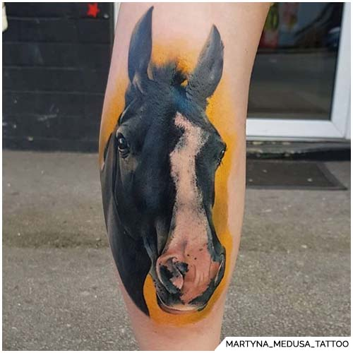 tattoo cavallo realistico colorato