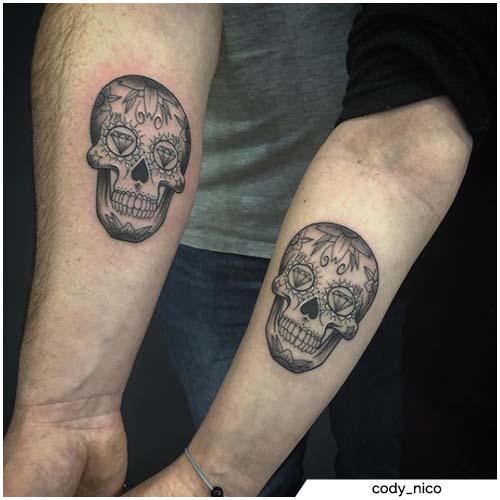 tatuajes para parejascalaveras