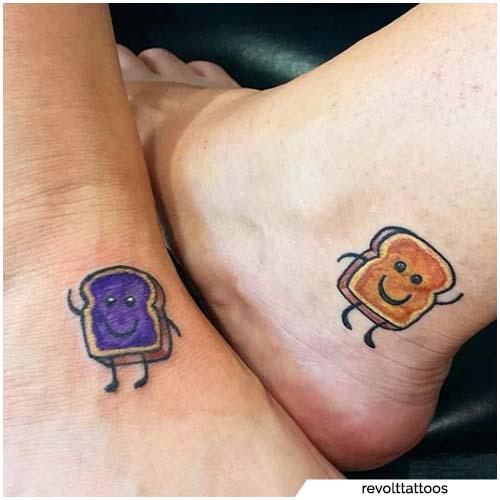 tatuajes para parejas pan