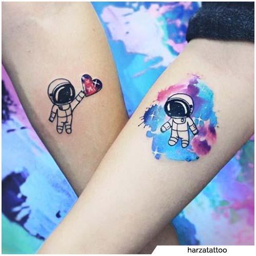 tatuajes para parejas astronauta