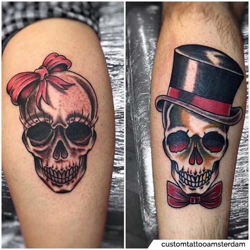 tatuajes para parejas calaveras