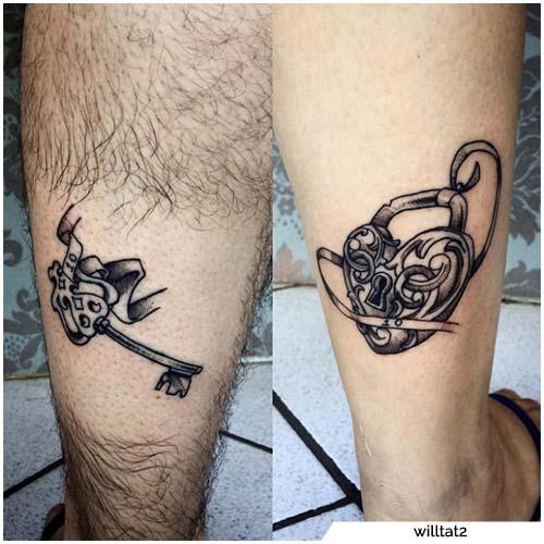 tatuajes para parejasclave y luz
