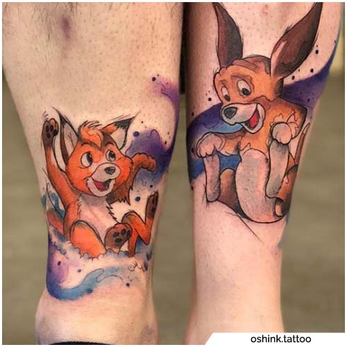 tatuajes rojos y toby pareja