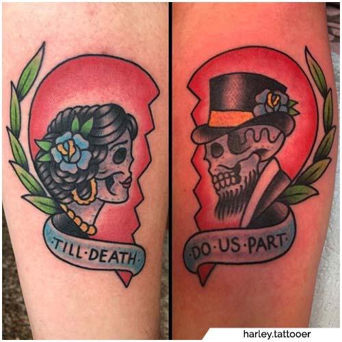 pareja tatuajes hasta la muerte