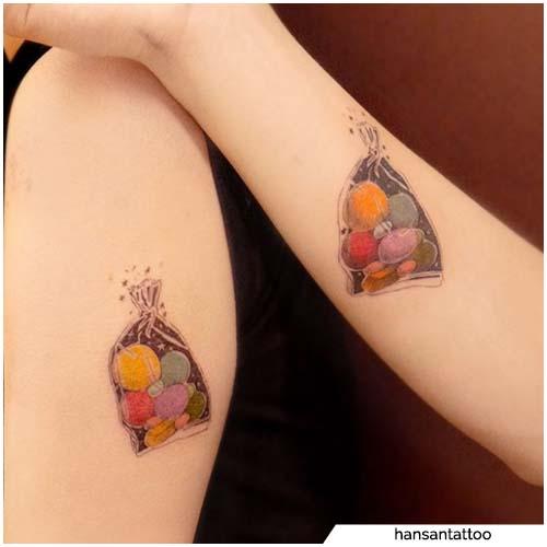 tatuajes de pareja de dulces