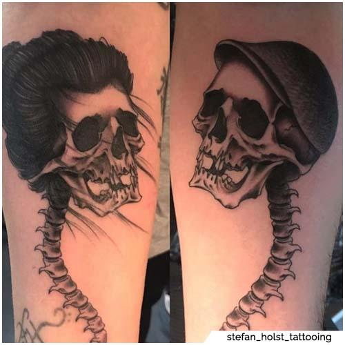 esqueletos tatuajes de pareja