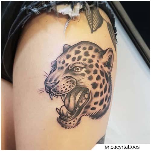 tattoo leopardo blackwork