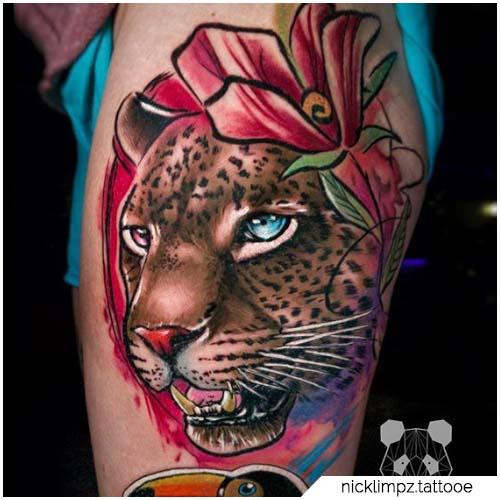 tattoo leopardo figurativo