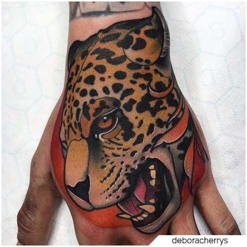 tatuaggio leopardo new school