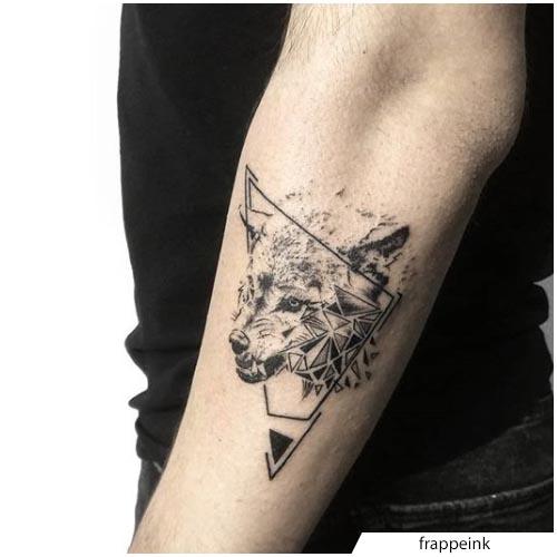 tatuaggio lupo distruzione
