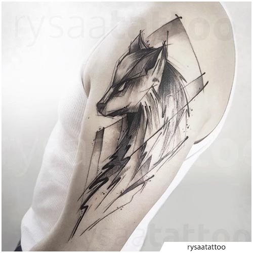 dibujar un tatuaje de lobo