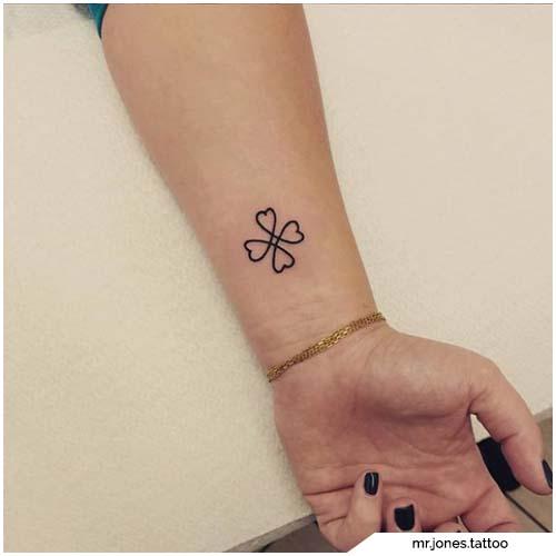 tattoo quadrifoglio celtico