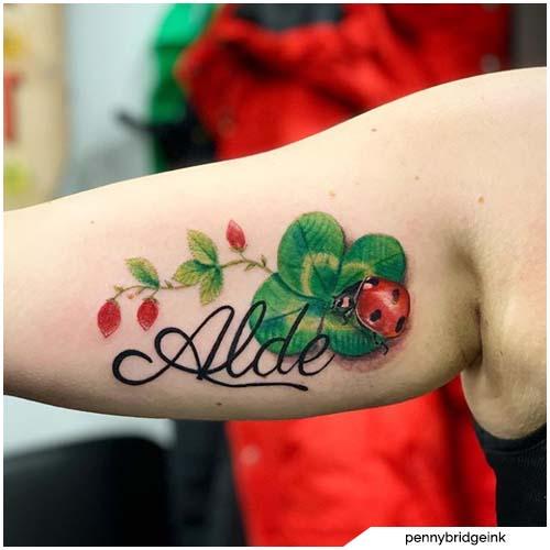 tattoo quadrifoglio coccinella
