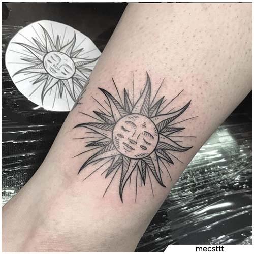 bosquejo del tatuaje del sol