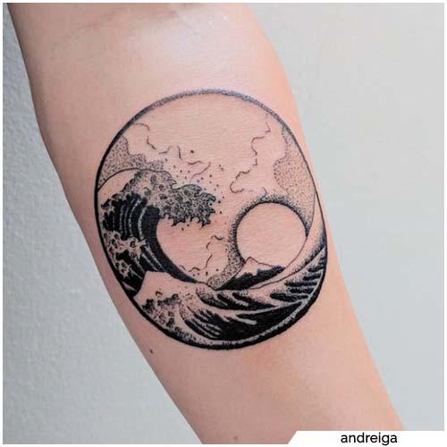 tatuaggio sole e mare