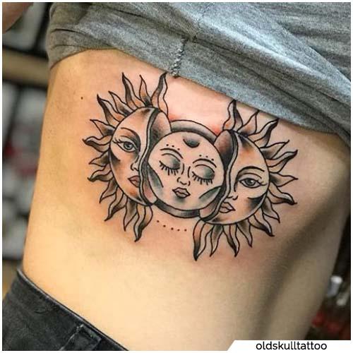 tattoo sole e luna