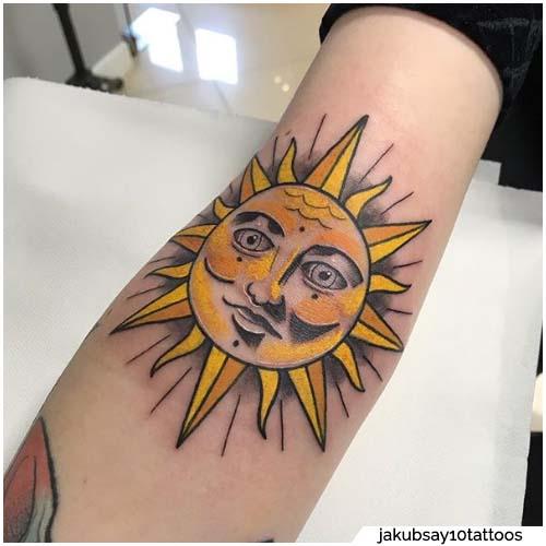 tattoo sole giallo