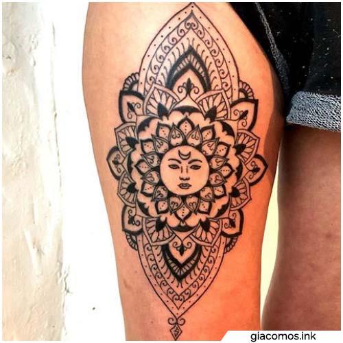 tattoo sole mandala
