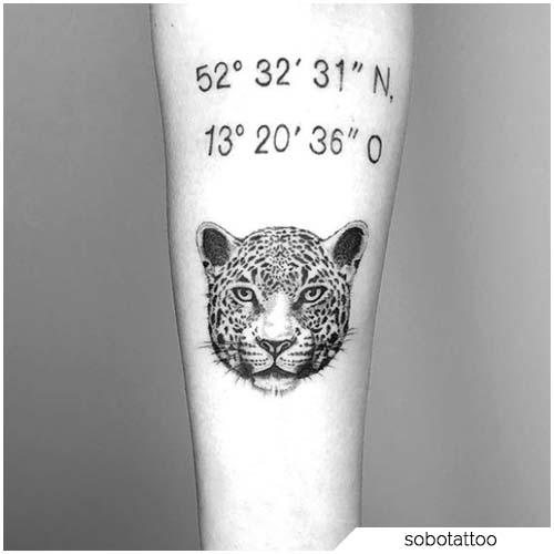 tattoo leopardo piccolo