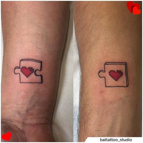 tatuajes para parejas rompecabezas