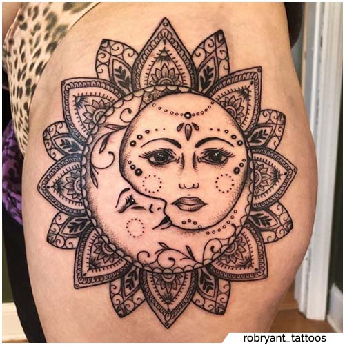 tatuaggio sole mandala