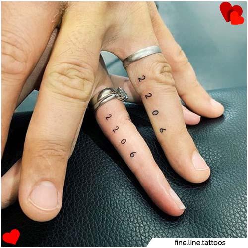 Ttatuajes para parejas con fecha