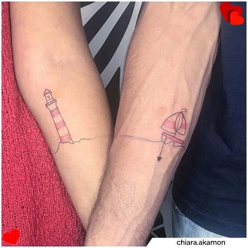 tatuajes de pareja de tamaño mediano