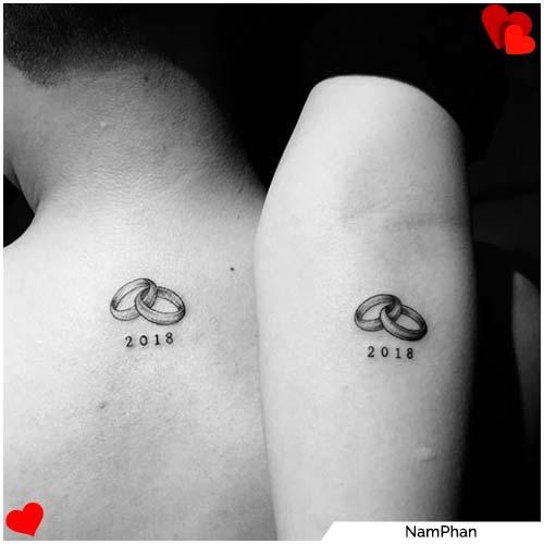 tatuajes para parejas anillos de boda