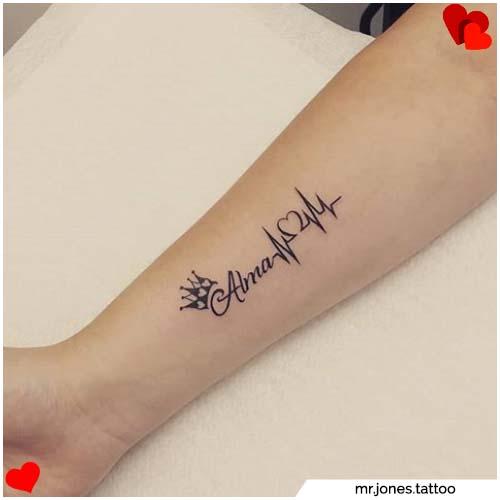tatuajes para parejas nombre niños