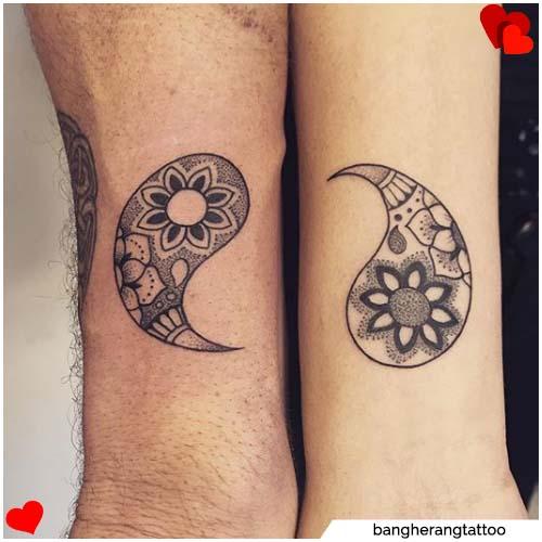 tatuajes de pareja yin yang