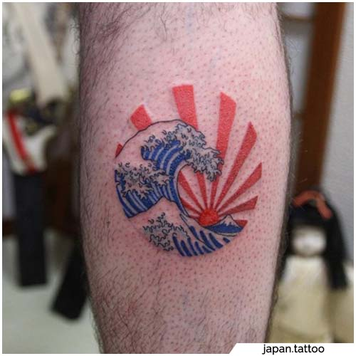 tatuaje de sol naciente