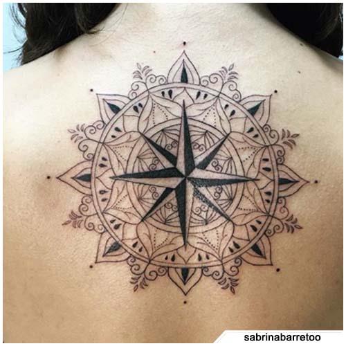 bussola tattoo mandala