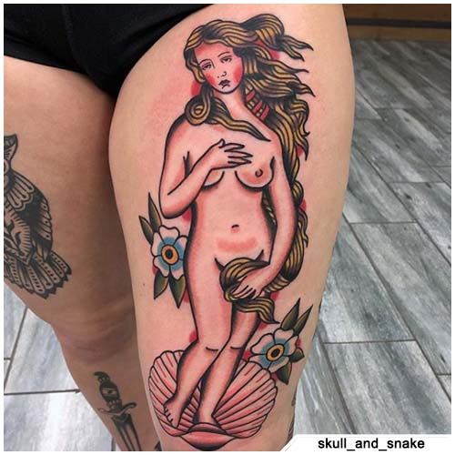 pin up tattoo venere