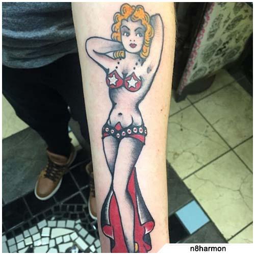 pin up tattoo old school