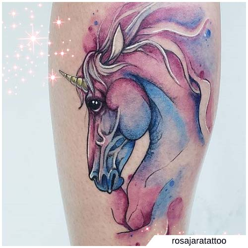 watercolor unicorno