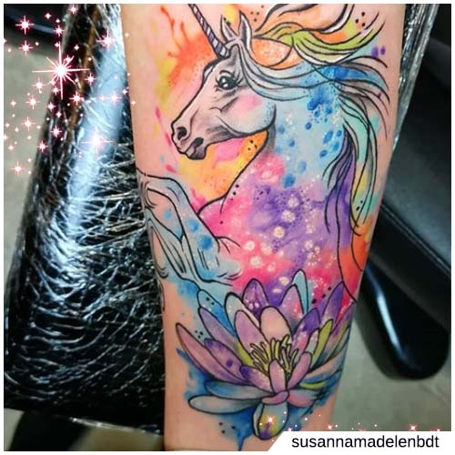 tattoo unicorno