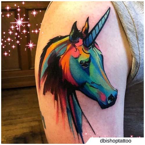 pintura de estilo unicornio