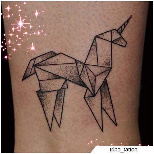 unicornio de origami