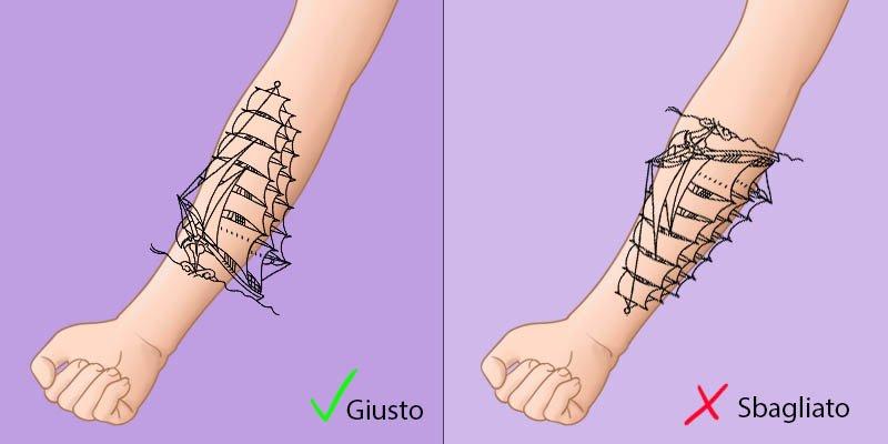 come disegnare un tatuaggio diritto