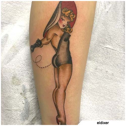 tattoo pin up cappello