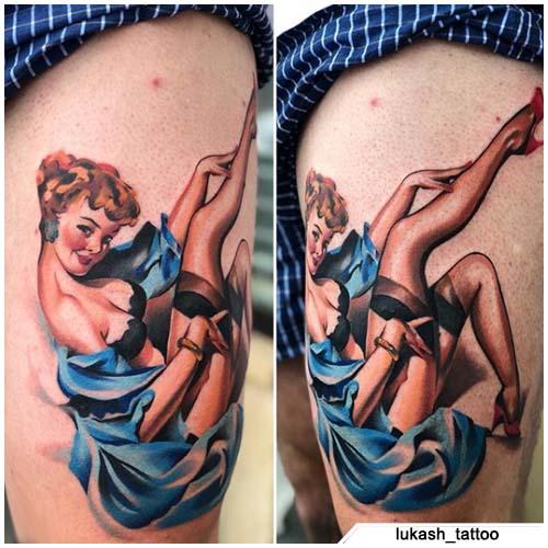 tattoo pinup realistico
