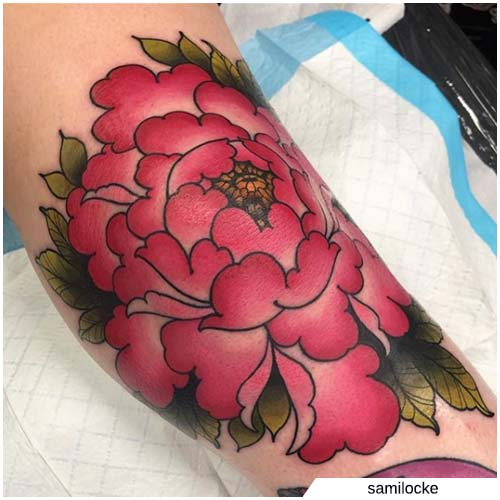 tattoo peonia