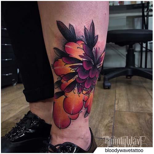viola e arancione