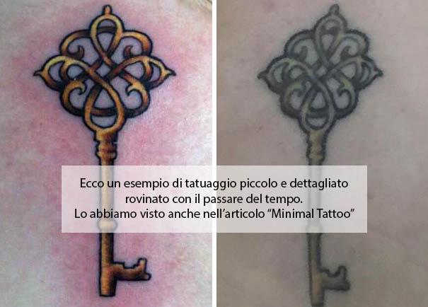 come disegnare un tatuaggio rovinato dimensioni