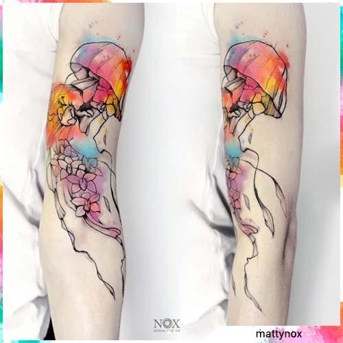 medusa acquerello