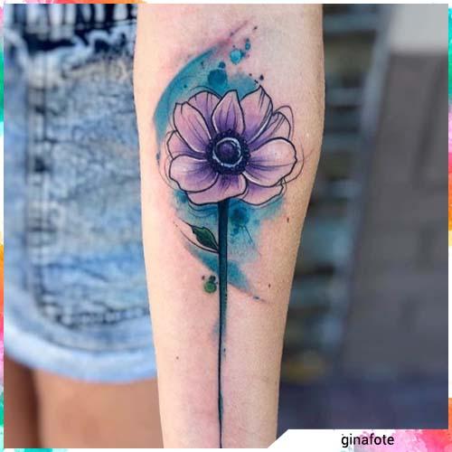 fiore sfondo azzurro