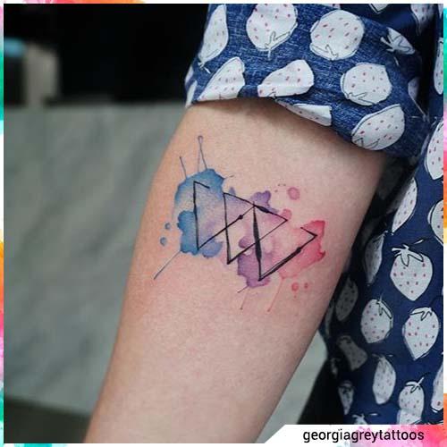triángulos acuarelas
